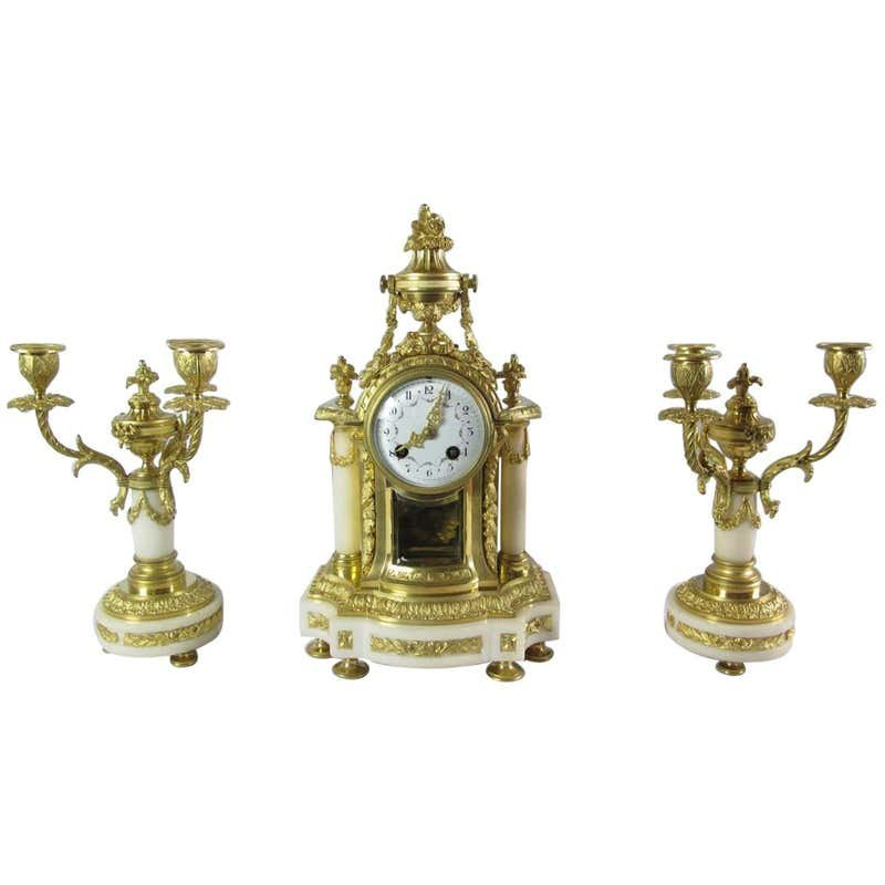 Bronze Garniture De Cheminée
