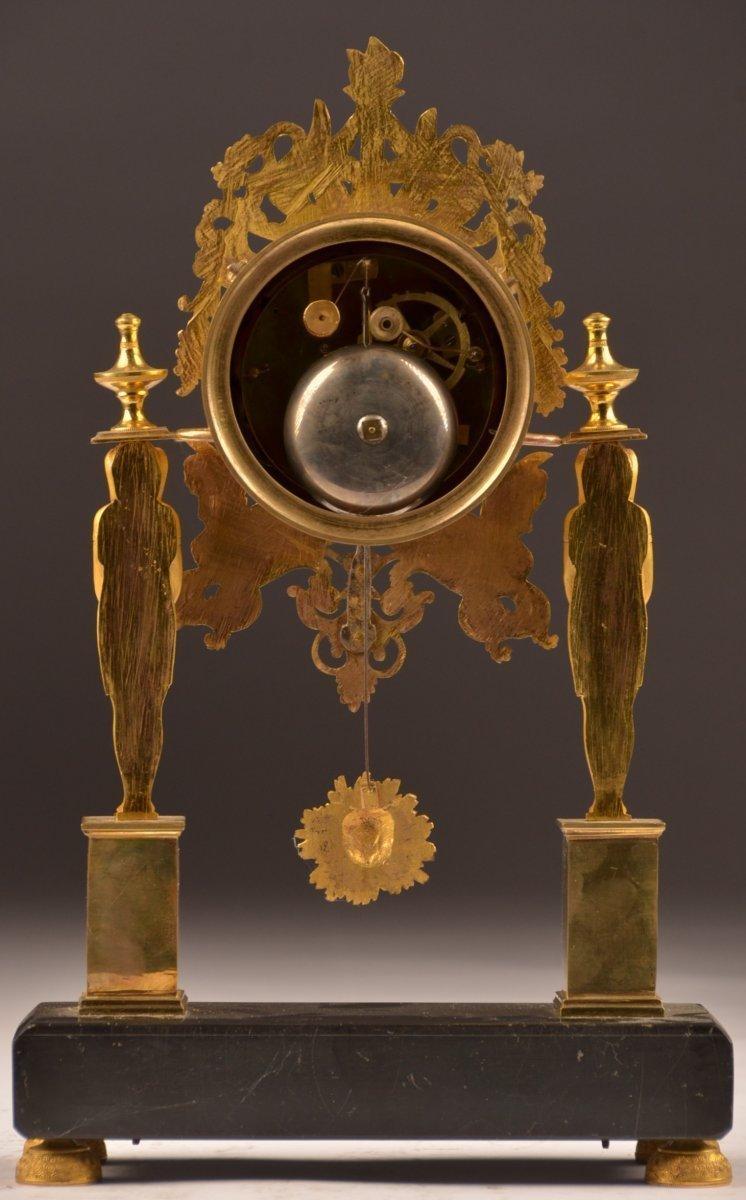 Pendule Bronze Doré Directoire.-photo-2