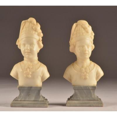 2 X buste Louis Gregoire.  Marbre .