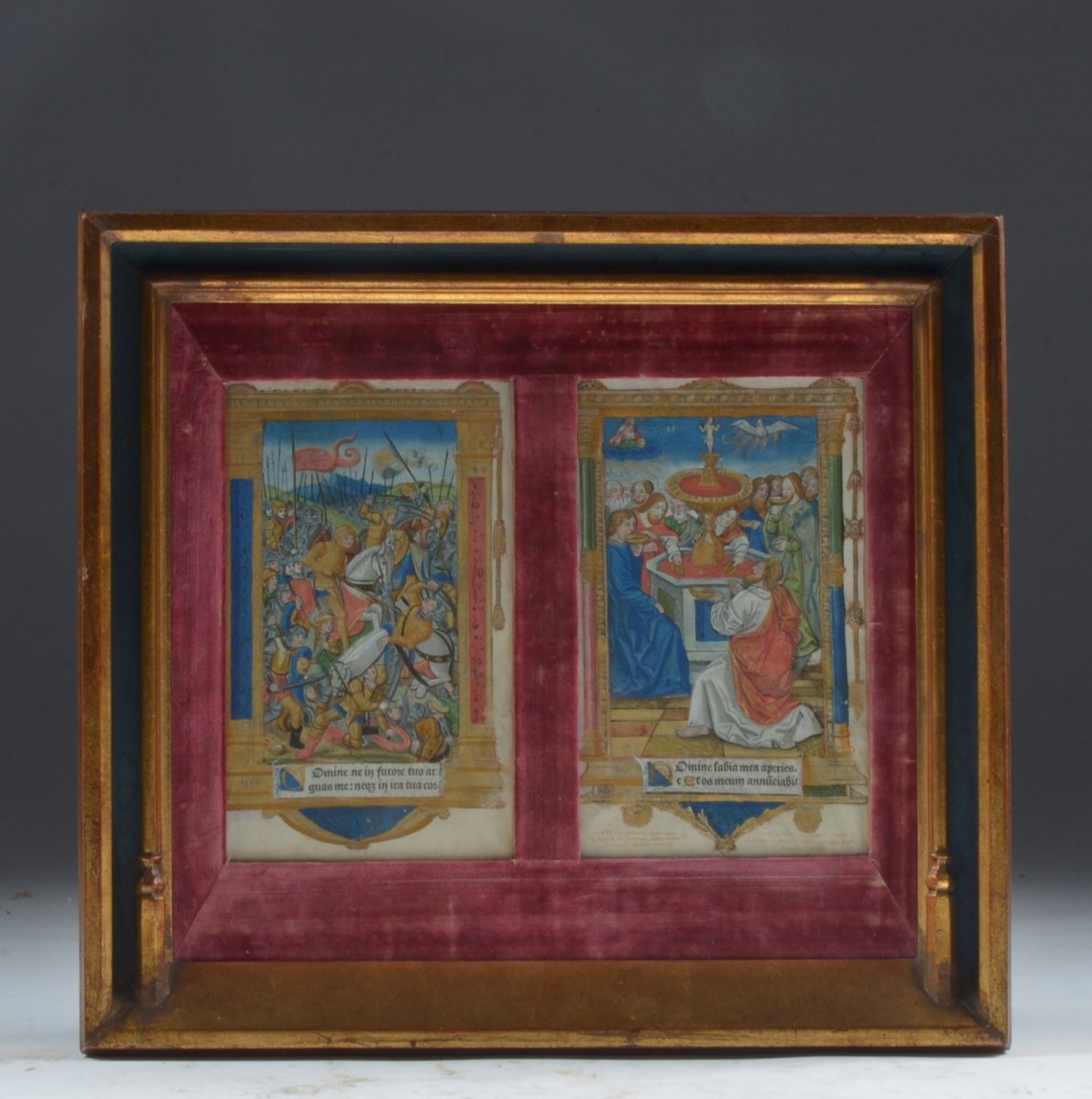 Two Illuminated Pages  16th Century Circa 1520