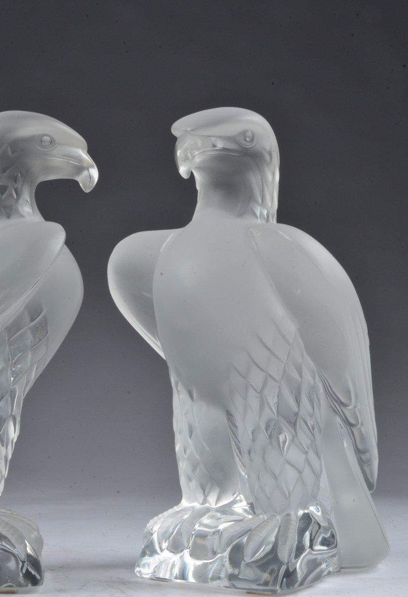 Deux René Lalique Aigle-photo-1