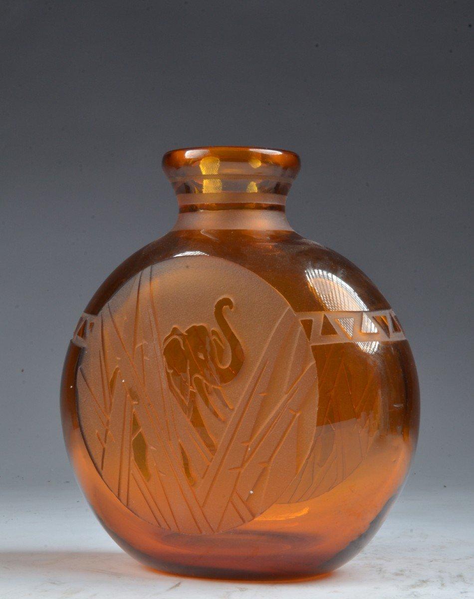 Vase Pelgrim Muller Freres Luneville éléphant Art Deco