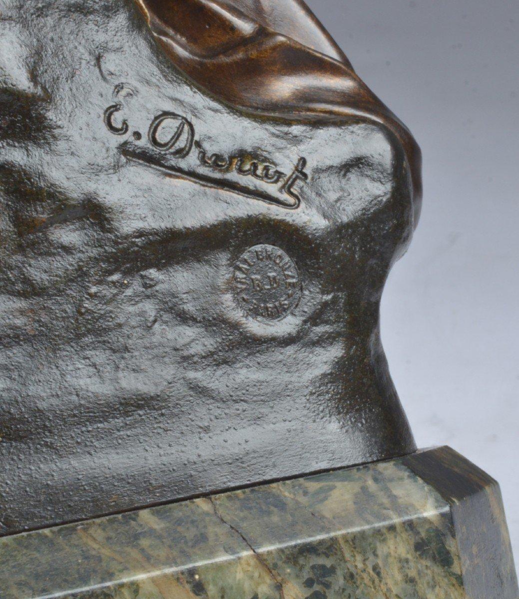 Bronze Signé E. Drouot. (1859-1945) -photo-4