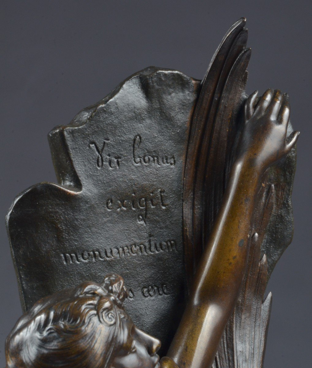 Bronze Signé E. Drouot. (1859-1945) -photo-1