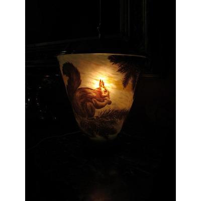Muller Freres Luneville. Lampe Art Deco.