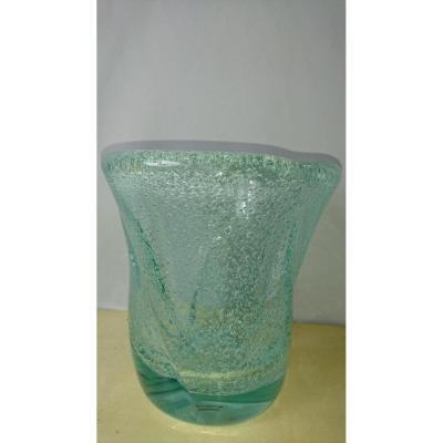 Vase Daum Nancy. Bubbles