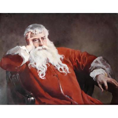 Portrait En émail De Ernest Meissonier Signé Rodolphe Piguet
