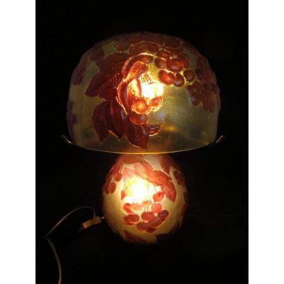 Mushroom Lamp Signed Art De Michou. Desk Lamp
