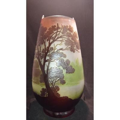 Grand Vase Signé Gallé