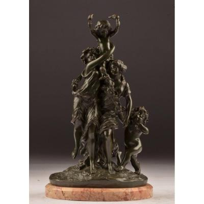 Bronze signé Clodion.