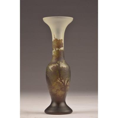Signed Art Nouveau Vase.