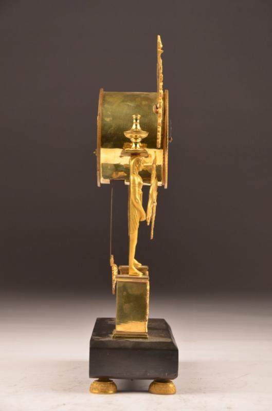 Pendule Bronze Doré Directoire.-photo-4