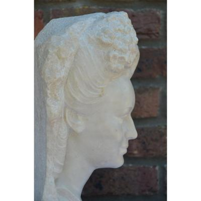 Marble Bust By Bartoletti (1898)