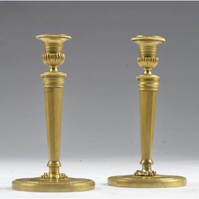 Pair Of Claude Galle Candelabra