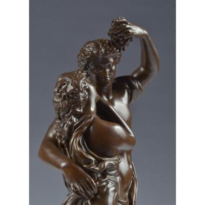 Bronze Signé Rancoulet (1870-1915) Bachanten