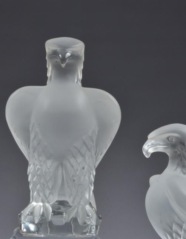 Deux René Lalique Aigle-photo-2