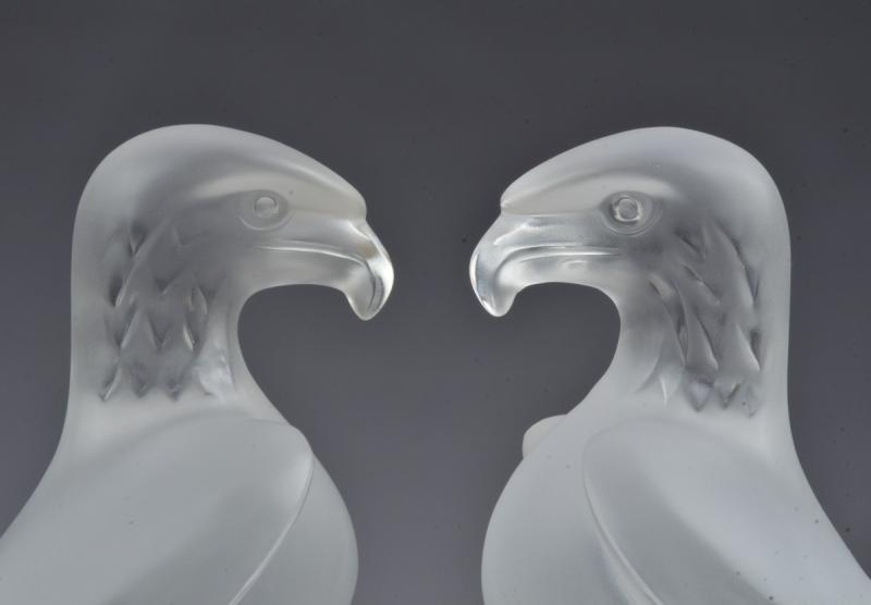 Deux René Lalique Aigle-photo-3