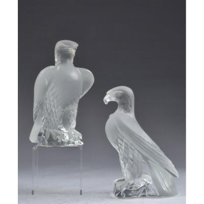 Deux René Lalique Aigle