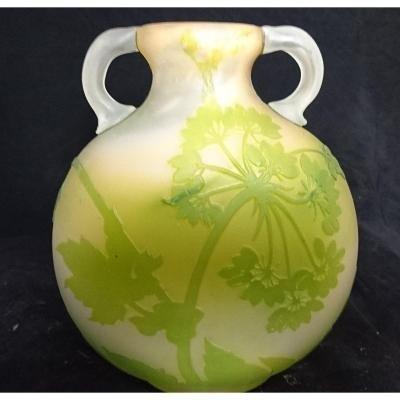 Vase Signed * Gallé Hogweed