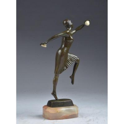 Bronze Dancer Georges Lucien Vacossin (1870-1942)