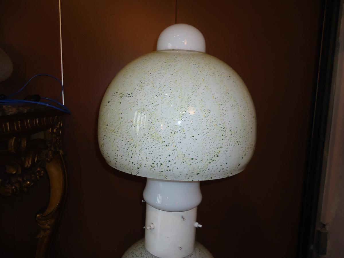 Lampe champignon murano lampadaires for Lampe de chevet champignon