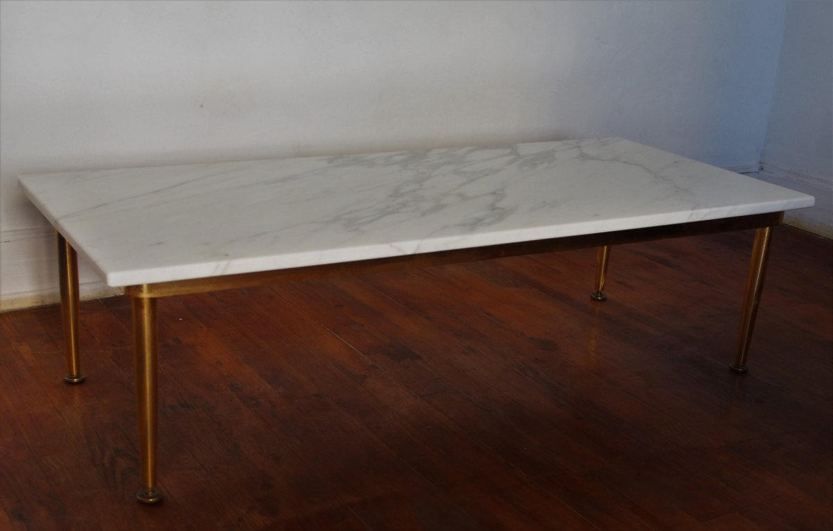 Table Basse Plateau Marbre Blanc