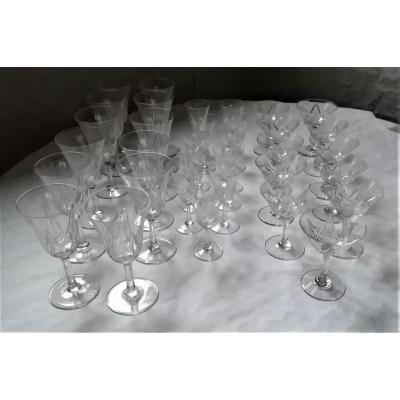 Saint Louis Crystal Glass Service
