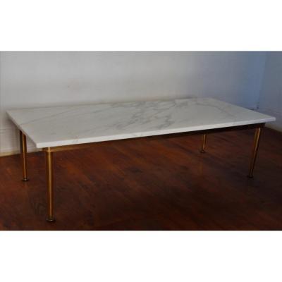 Table Basse Plateau Marbre Blanc