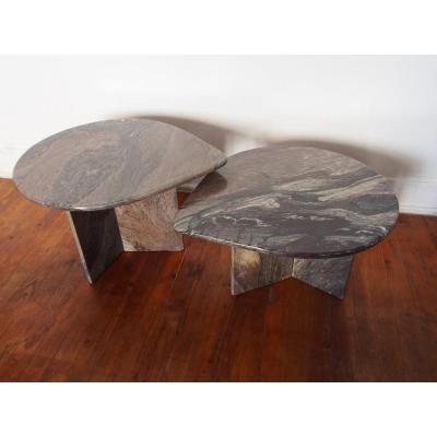 Set Of 2 Marble Coffee Tables