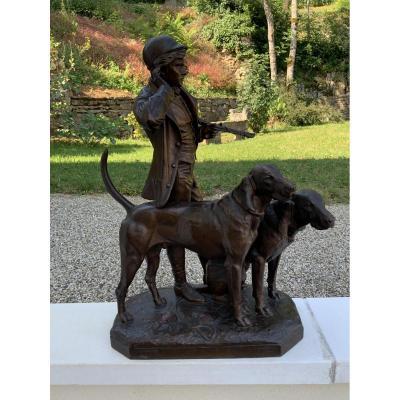 Sniffer Listening Hunting Dogs Jacquemart Garden Statue