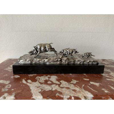 Silver Bronze Sadoux Boar