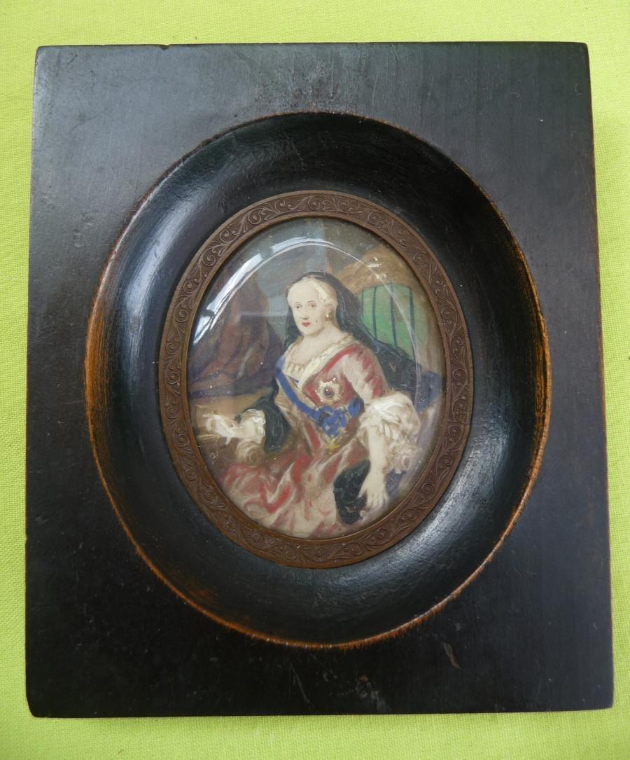 Peinture Miniature  Catherine II De Russie