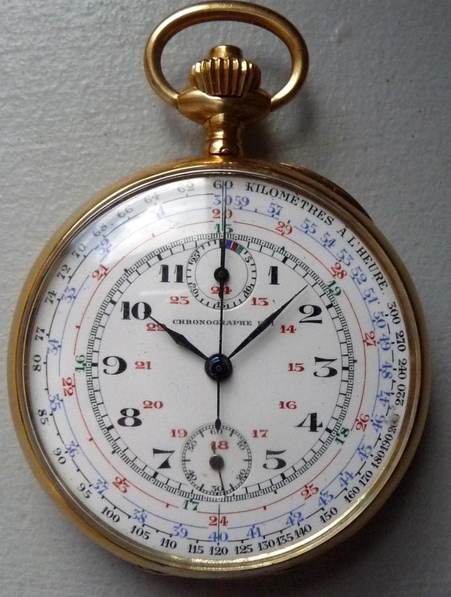 Montre Chronographe Uti En Or 18 Carats