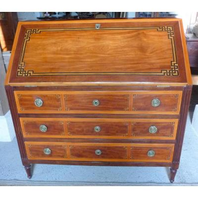 Commode bureau Scriban époque Louis XVI