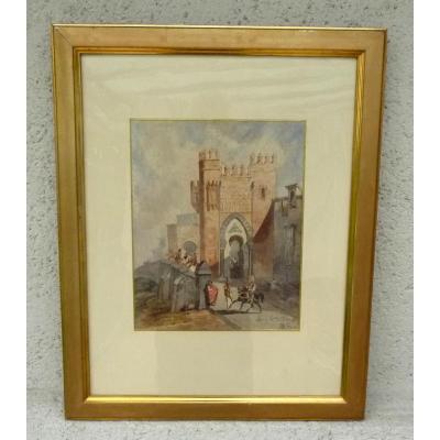 Orientalist Watercolor By Stanislas Gorin (1824-1874)