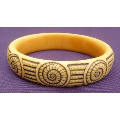"""""""Bracelet d'Yokohama O'kin, Eugénie Jubin Dite (1880-1948) avec certificat d'authenticité"""