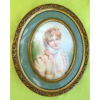 Miniature Portait de Marie Louise d'Autriche