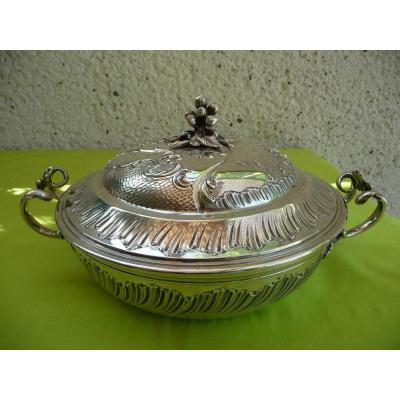 Legumier In Sterling Silver Louis XV Rocaille Style