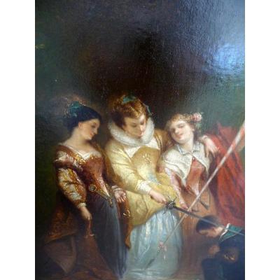 Cérémonie D Adoubement Par Henri Charles Antoine Baron 1816.1885