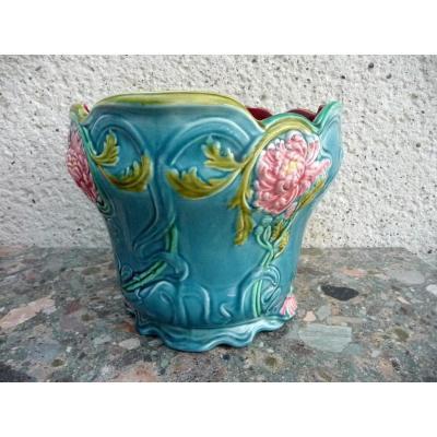 Cache Pot In Art Nouveau Slush From Gien