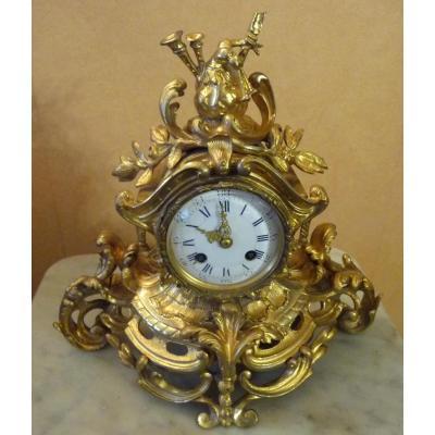 Louis XV Rocaille Gilt Bronze Fireplace Trim