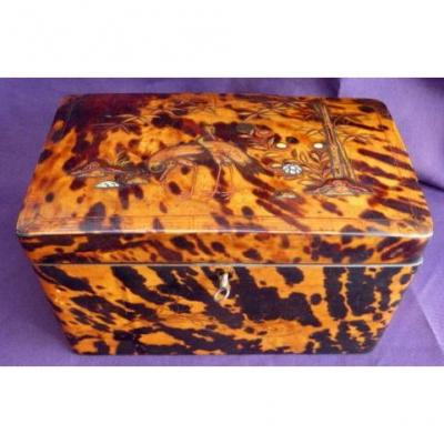 Japan Tortoiseshell Tea Box
