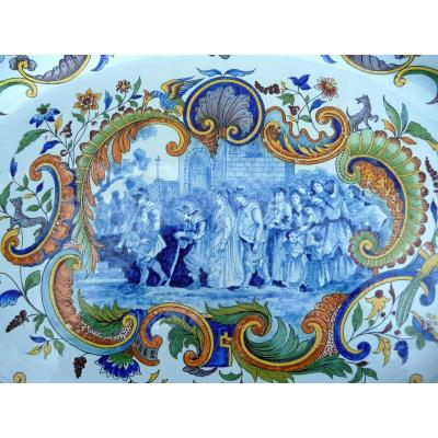 Grand Plat En Faience De Porquier