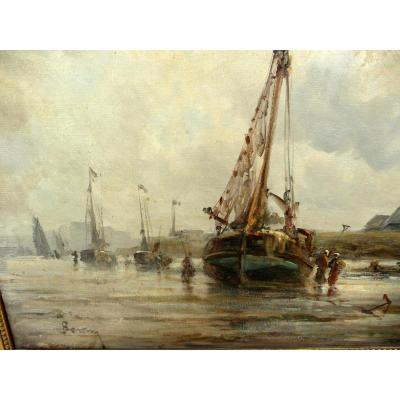 Marine By Auguste Berthon 1858 - 1917
