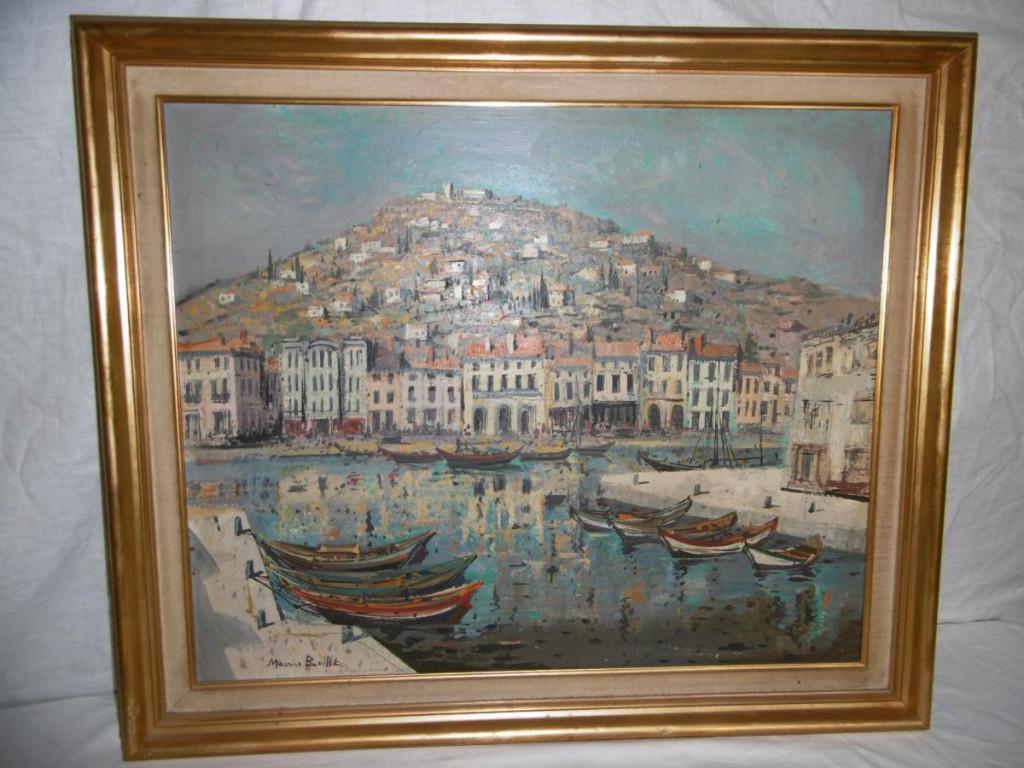 Peinture Vue Sur Sete Signee Maurice Buffet Tableaux Paysages