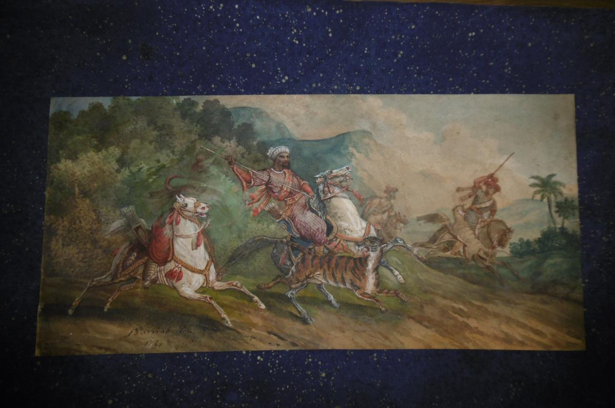 Signed Watercolor Orientalist Barrias