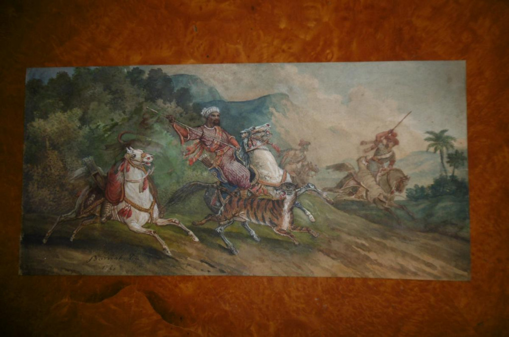Signed Watercolor Orientalist Barrias-photo-7