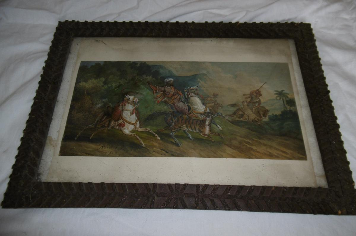Signed Watercolor Orientalist Barrias-photo-8
