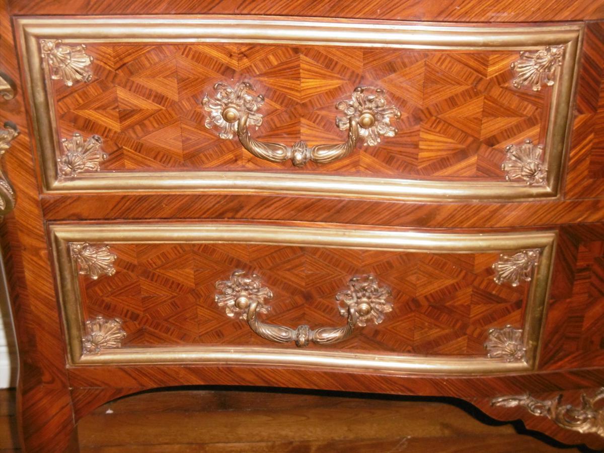 Grande Commode XIXème De Style Régence-photo-4