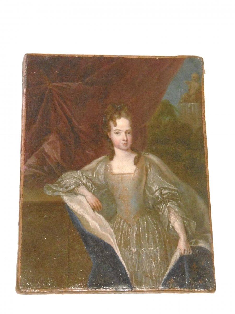 Netscher Caspar Portrait Of The Girl Of Louis XIV